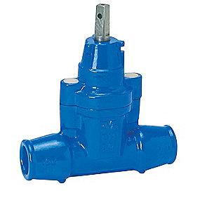 AVK stikledningsventil med trækfast indstiksmuffer 50 mm PN16. Duktiljern