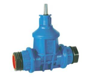 AVK stikledningsventil 32mm PN16 med PRK koblinger for PE-rør. POM
