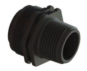 Isiflo Ecoline nippel 32mmx1''. Type 147. Komposit. For Isiflo ventiler og skydemuffer