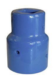 AVK spindelovergang DN65-80. Spindelfirkant 17/25 mm. Støbejern. Til universal garniture 145127xxx