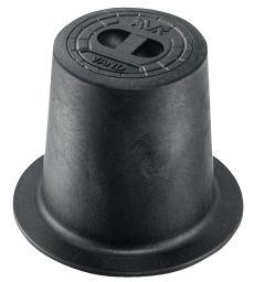 AVK fast gadedæksel med sort prop 130 mm. Komposit