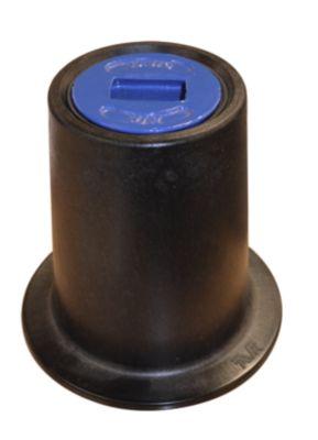 AVK fast gadedæksel med blå prop 130 mm. Komposit