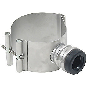 Blücher EuroPipe indskæringsmanchet 110 mm til 32-40 mm sideindløb. Rustfrit stål