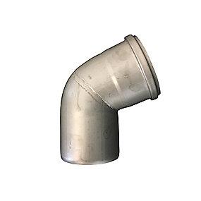 Blücher EuroPipe bøjning 68°. 110 mm. Rustfrit stål