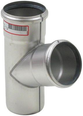 Blücher EuroPipe grenrør 68°. 110 mm. Rustfrit stål