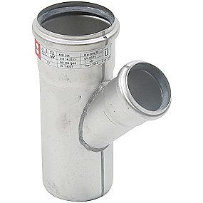 Blücher EuroPipe grenrør 45°. 75/50 mm. Rustfrit stål