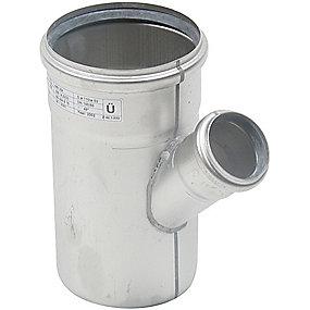 Blücher EuroPipe grenrør 45°. 110/50 mm. Rustfrit stål