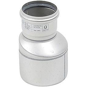Blücher EuroPipe excentrisk reduktion 110/75 mm. Rustfrit stål