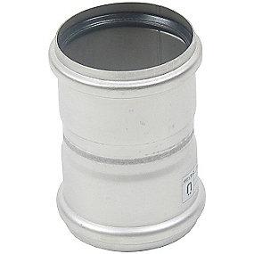 Blücher EuroPipe dobbeltmuffe 75 mm. Rustfrit stål