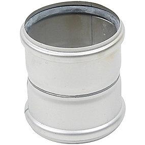 Blücher EuroPipe dobbeltmuffe 110 mm. Rustfrit stål