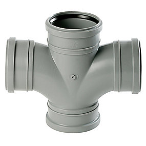 Uponor HTP dobbel forgrening 88° 110 mm