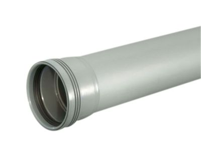 Wavin Wafix HC PP rør med muffe. 75X1000 mm