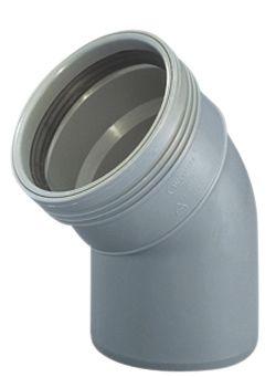Wavin Wafix HC PP bøjning 75 mm. 45 gr.