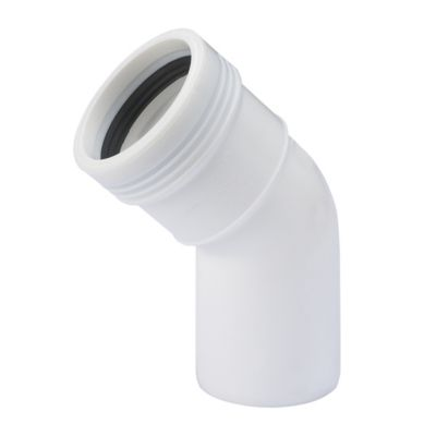 Wavin Wafix PP bøjning 32 mm. 45°. Hvid