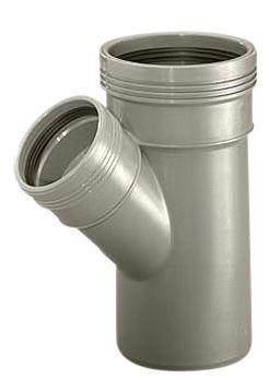 Wavin Wafix HC PP grenrør 75-75 mm. 45 gr.