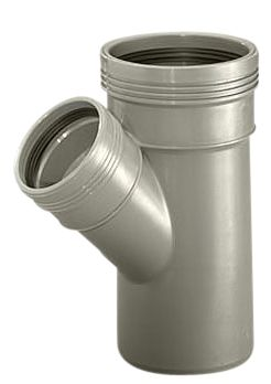 Wavin Wafix HC PP grenrør 110-110 mm. 45 gr.