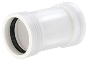 Wavin Wafix PP dobbeltmuffe 40mm. Hvid