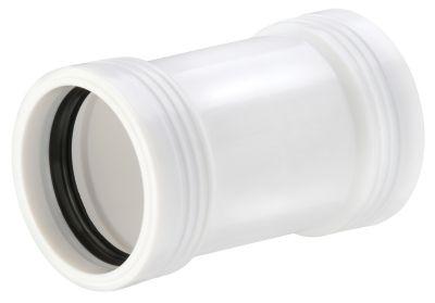 Wavin Wafix PP dobbeltmuffe 50mm. Hvid