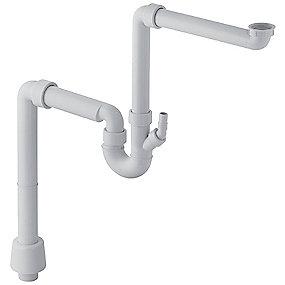 Uniflex universalvandlås til enkeltvask