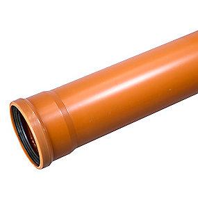 Wavin PVC kloakrør 110x3000mm SN4 EN13476