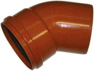 Uponor PVC bøjning 250mm 45°