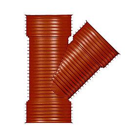 Uponor grenrør 45° 315/315mm Ultra Rib 2