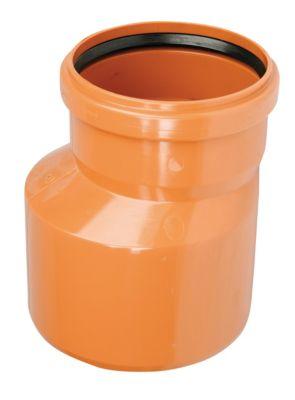 PVC-reduktion 160-110mm. Med kort indstiksmuffe EN1401