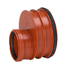 Uponor reduktion 250-160mm glat rør m/tætn.ring påsat. Ultra Rib 2