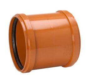 Uponor PVC dobbeltmuffe 200mm