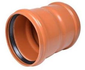 Wavin PVC dobbelt stikmuffe 250 mm