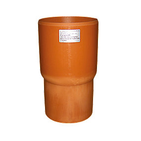 HL ekspansionsovergang 160/145x120 mm. Til 160 mm glat muffe