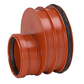Uponor Reduktion 200-110mm glat rør m/tætn.ring påsat. Ultra Rib 2