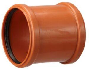 PP-dobbelt stikmuffe 110mm EN1852-1