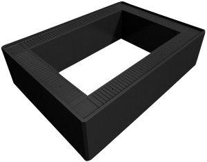 Uni-Seals rammemodul for opbygning af kabelbrønd. 600x600x150mm. Af Polyethylen.