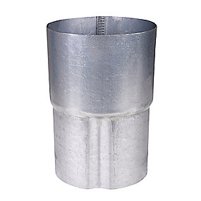 Plastmo stål plus rørsamlemuffe 75 mm.
