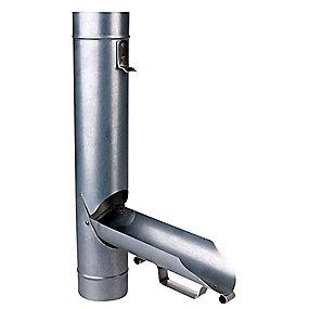 Plastmo stål plus vandudviser med klap 75 mm.