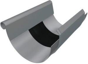 PREFA Ekspansionsstykke 333 mm til 1/2-rund inkl. Vulst. Blank. - Tages ikke retur -