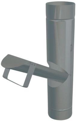 PREFA Regnvandsudkast med klap 80 mm. Blank