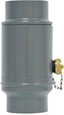 PREFA Regnvandssamler 80 mm med kobling samt slange-koblingssæt 1''. Blank