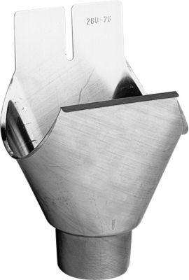 Rheinzink Eksp.tudstykke 333/76mm 1/2-rund. Form G. prePatina walzblank - Tages ikke retur -