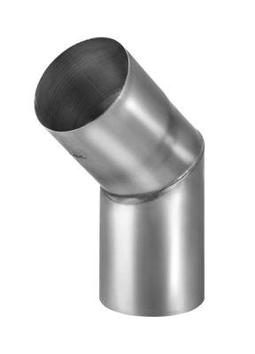 VM zinc Knærør med muffe 76 mm. 45°. udv. Samling. Blank zink -Tages ikke retur-
