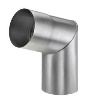 VM zinc Knærør med muffe 76 mm. 70°. indv. Samling. Blank zink -Tages ikke retur-