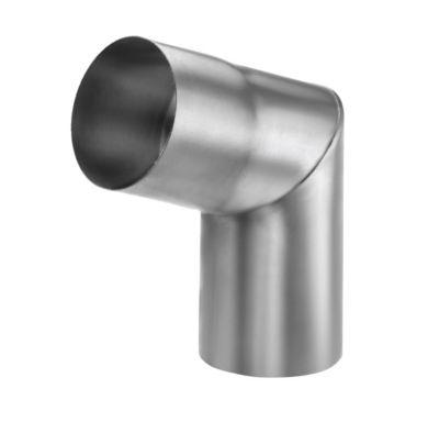 VM zinc Knærør med muffe 76 mm. 70°. udv. Samling. Blank zink -Tages ikke retur-