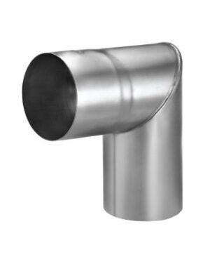 VM zinc Knærør med muffe 87 mm. 85°. indv. Samling. Blank zink -Tages ikke retur-