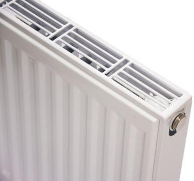 NY C4 radiator 11 - 400 x 400 mm. RAL 9016. Hvid