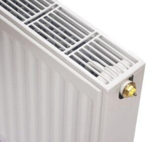 NY C6 ventil radiator 22 - 600 x 600 mm. RAL 9016. Hvid