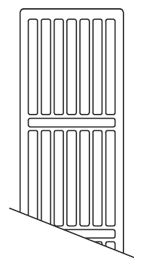 NY toprist 1800mm Til C4 og C6 radiator
