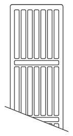 NY toprist 1200mm Til C4 og C6 radiator