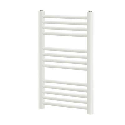 Norm Håndklæderadiator 700x500 mm. Lige rør. Hvid