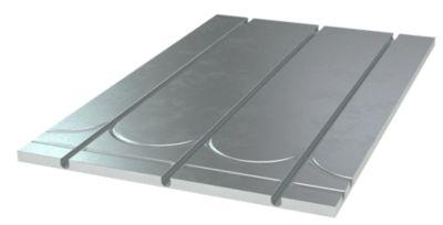 gulvvarmeplade til 12 mm 1175x750x13 mm +vendespor og alu. varmefordeling CC 125 mm